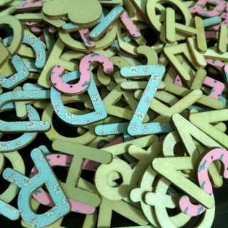Wooden letters from Typo