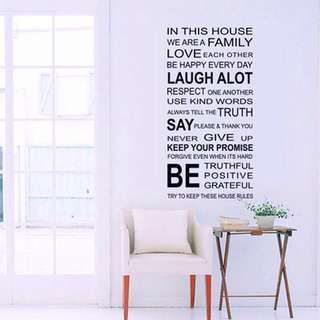 Ready stock removable Wall Sticker for family big size