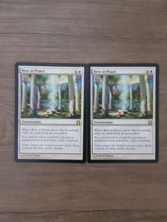 2x Rest in Peace Return to Ravnica Magic The Gathering