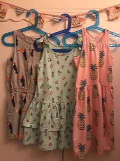 Cotton On Kids Girls Dresses - Size 7 - Set of 3
