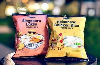 新加坡F.East 正宗出既海南雞飯味薯片或新加坡Laksa 叻沙味薯片  接受代購落單中