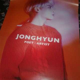 JONGHYUN SHINEE OFFICIAL POET ARTIST POSTER