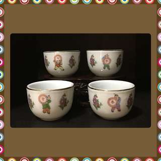 Rare Vintage Kungfu Kids Big Teacups