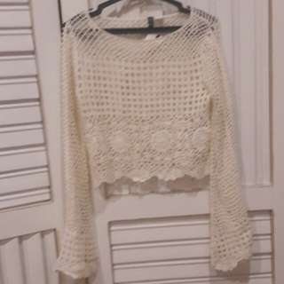 H&M Brand New Knitted Cropped Top