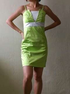 Lime green dress for party