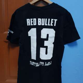 Official BTS Red Bullet Concert Shirt