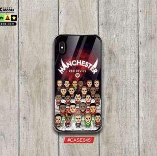 英超🏴曼聯2018最新陣容 新款鋼化玻璃電話殼