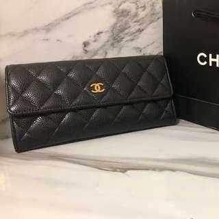 🚚 Chanel 長夾 荔枝金釦