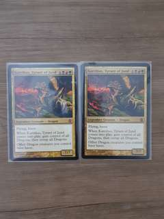 2x Karrthus, Tyrant of Jund Alara Reborn Magic The Gathering