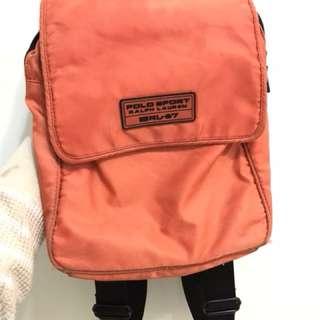 古著 POLO亮橘色小背包