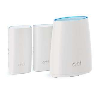 (Ready)NETGEAR Orbi Whole Home Mesh WiFi System with Tri-band – Wireless router and extender replacement, maximize WiFi speed and range, Up to 5000 sqft, 3pk (RBK33)