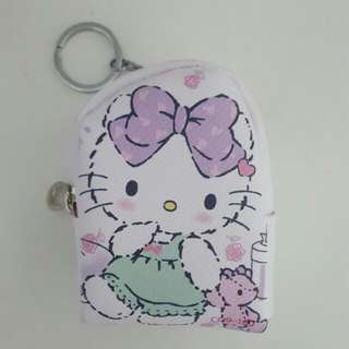 Cute Hello Kitty Coin Leather Coin Purse Pouch Holder With Keychain