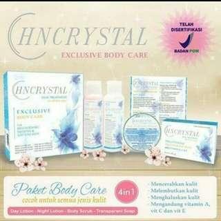 PAKET BODY CARE HN CRYSTAL / HN KRISTAL SKIN TREATMENT 4 IN 1 BPOM