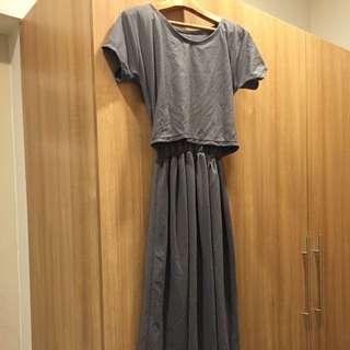 Nursing maxi dress freesize
