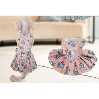 BABY PINK FLOWER DRESS FOR PETS