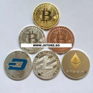 ✅ Ethereum, Litecoin, Dash Coin Collectibles