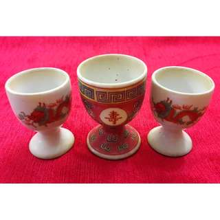 Vintage 1960s chinese wedding cups