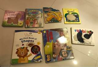 7 hard cover baby / toddler/ children's books