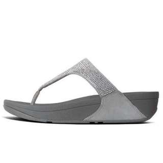FitFlop SLINKY™  ROKKIT TOE-THONG SANDALS | Metallic Silver | US Women's Size 7,8,9,10,11 | Flip Flop Sandal Slipper