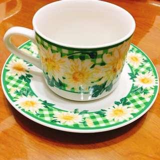 🚚 咖啡杯組 氣質小花 1組