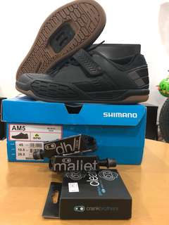 SPD - Shimano AM5 + CrankBrothers DH Mallet Race (with premium cleats)
