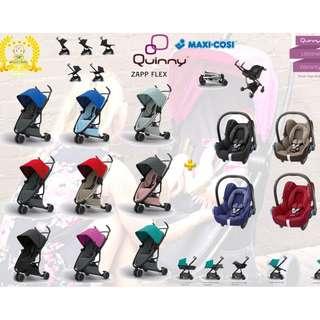 Quinny Zapp Flex Stroller + Maxi Cosi Cabriofix Infant Car Seat
