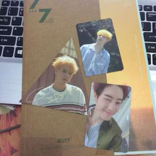 Got7 7for7 album golden our ver(unboxing)
