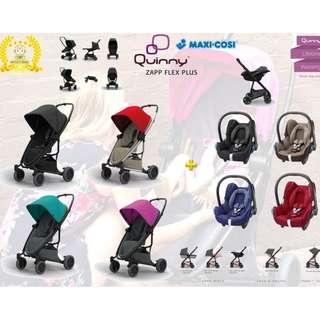 Quinny Zapp Flex Plus Stroller + Maxi Cosi Cabriofix Infant Car Seat