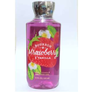 Bath and Body Works Shower Gel Bourbon Strawberry and Vanilla 295 ml