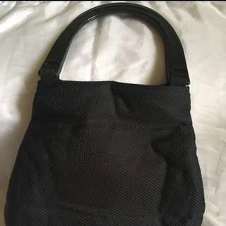Black evening handbag