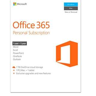 Microsoft Office 365 Personal - 1 year subscription (1PC + 1Tablet)