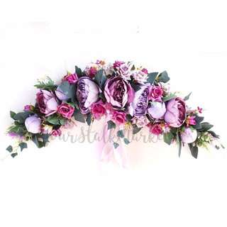 💐YourStalkMarket - Artificial Flower Wreath Garland Wedding Car Decor