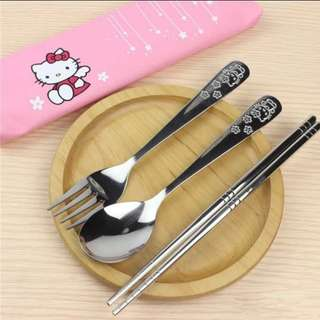 [Pre-order] Hello Kitty Stainless Steel Cutlery set