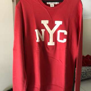 H&M Red NWC Sweater