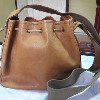 Etienne Aigner Genuine Leather Large Bucket Bag