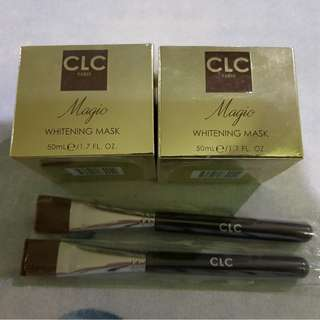 CLC Paris Magic Whitening Mask + Facial Brush