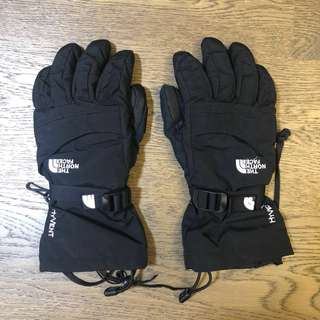 North Face Ski / Snowboard waterproof black gloves xs