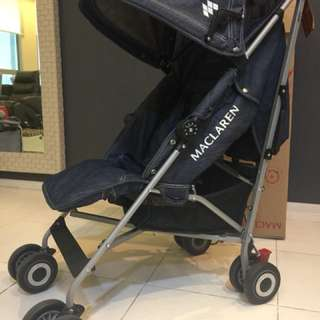 Mclarren Quest Denim stroller full spec