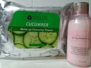 Make-up cleansing Tissue & makeup remover set