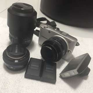 Samsung NX100 Camera with Additional Lens & Batteries