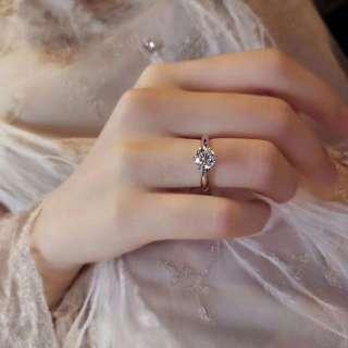 經典6爪蘇聯鑽戒 Classic Ring Tiffany 925純銀鍍厚18k鉑金