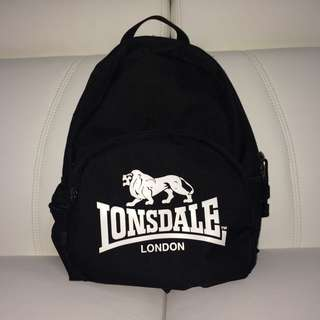 Black Lonsdale London Mini Backpack (100% Authentic)
