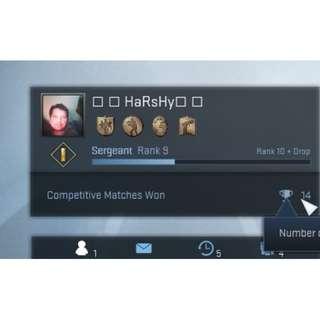 CSGO Account - Unranked (Due to inactivity) + Rocket League