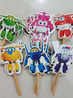 24pcs Superwings cake/cupcake toppers /birthday / Props