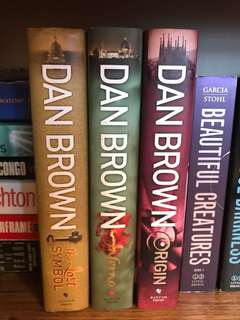 Dan Brown The Lost Symbol, Inferno, Origins (Hard backing)