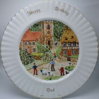 "1987 ROYAL ALBERT ~ ""Happy Birthday For Dad"" 陶瓷碟"