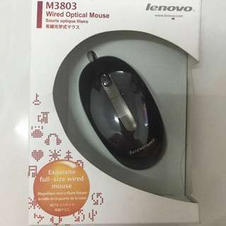 Lenovo M3803 Wired Optical Mouse 有線滑鼠