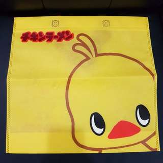 Nissin Chicken Ramen Mascot Woven Bag