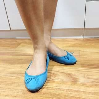 Turquoise blue H&M flat shoes