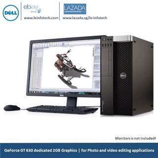 Dell T5600 Precision CAD workstation Quad-Core Xeon E5-2609#2.4Ghz 8GB DDR3 500GB SATA HDD 2GB Nvidia 630T Win 10 Pro Warranty